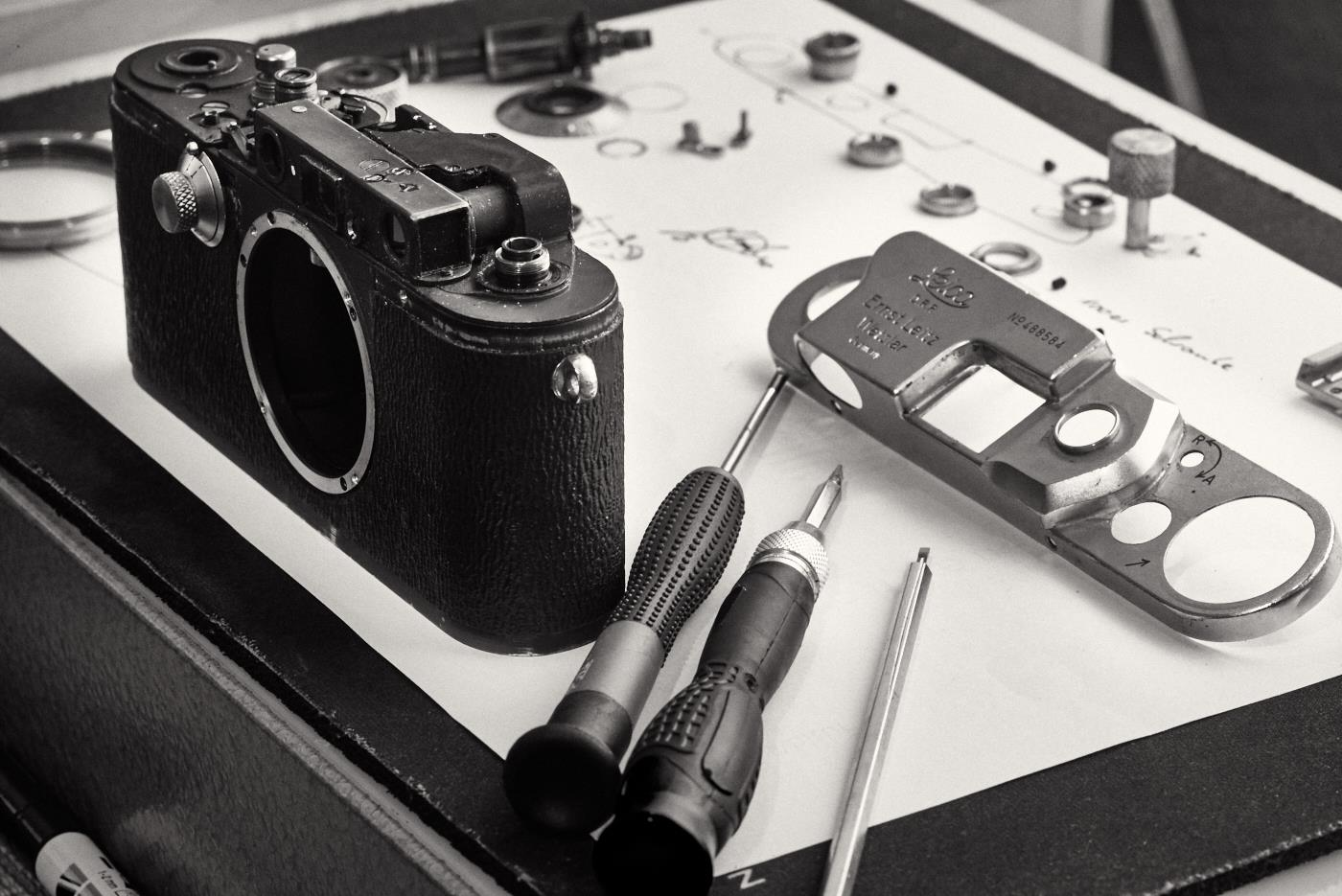Leica Entfernungsmesser Einstellen : Christoph heinrich fotografie wartung einer leica iii